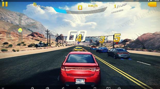 dua xe asphalt 8 cuc da tren smart tv box zidoo x6 pro