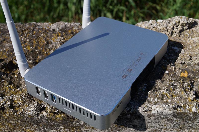 zidoo x9 android tv box kiem dau phat hd 3d 4k cao cap: mat truoc cua zidoo x9