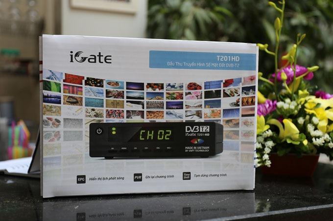 Đập hộp đầu thu DVB-T2 iGate T201HD của VNPT Technology