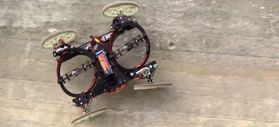 Disney giới thiệu Vertigo, robot mini có khả năng leo tường