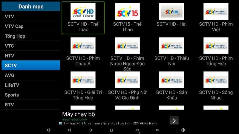 flytv ung dung xem truyen hinh tivi online mien phi cho android tv box flytvbox - nhom kenh sctv