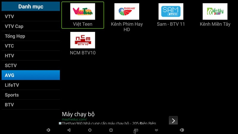 flytv ung dung xem truyen hinh tivi online mien phi cho android tv box flytvbox - nhom kenh avg