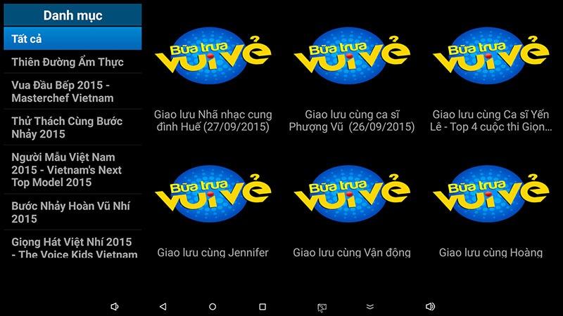 flytv android tv box ung dung xem truyen hinh tivi online mien phi flytvbox - xem tv show