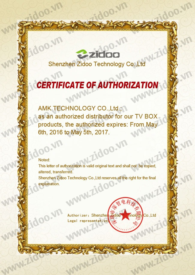 zidoo-certification-of-authorization