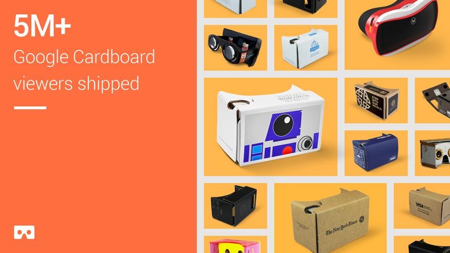 Google đã bán hơn 5 triệu kính thực tế ảo Cardboard