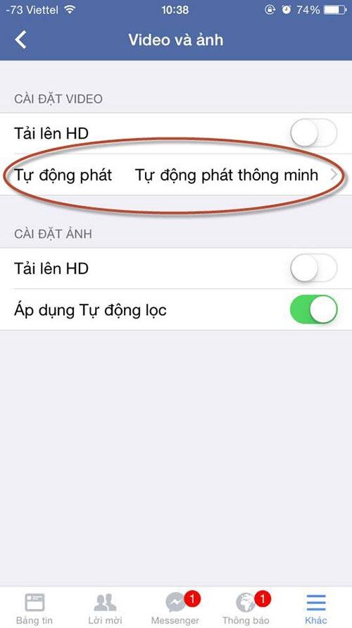 huong dan cach tat che do tu phat video tren facebook 06