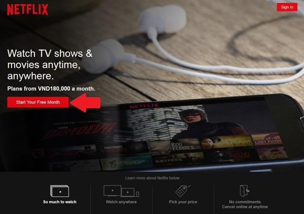 Hướng dẫn đăng ký xem phim Netflix miễn phí 1 tháng