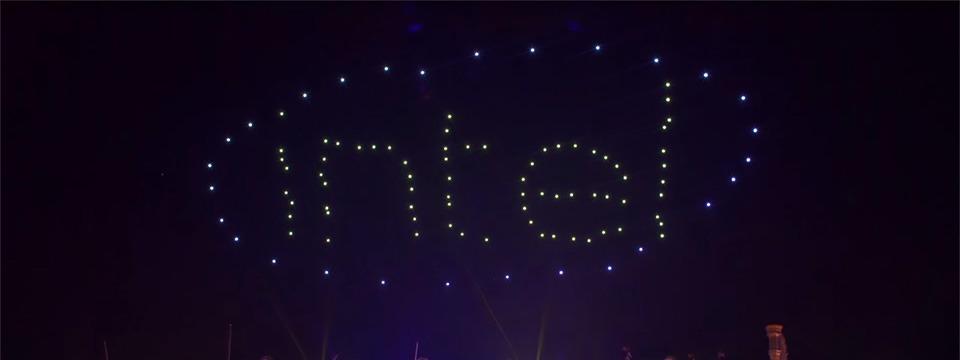 Intel lập kỷ lục Guinness với màn trình diễn của 100 chiếc drone cùng lúc