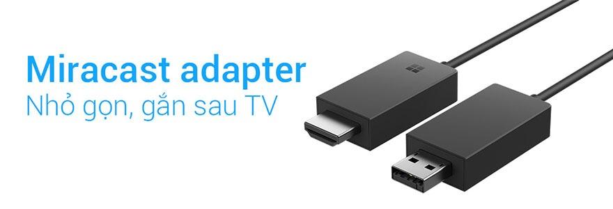 Microsoft ra mắt adapter Miracast mới nhỏ gọn gắn sau TV