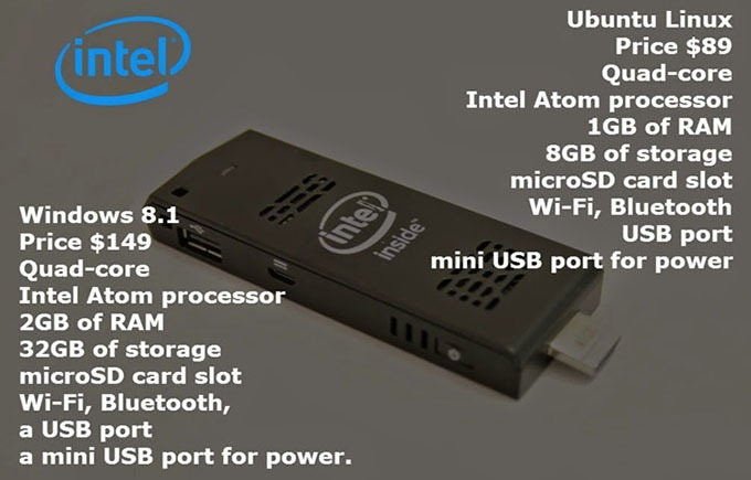 intel compute stick ho tro he dieu hanh windows va linux