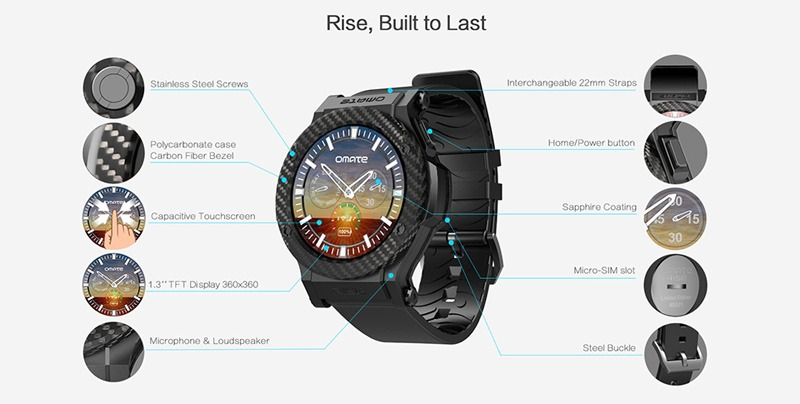 omate rise: smartwatch chay android 5.1 lollipop, co 3g, ket noi android va iphone 02