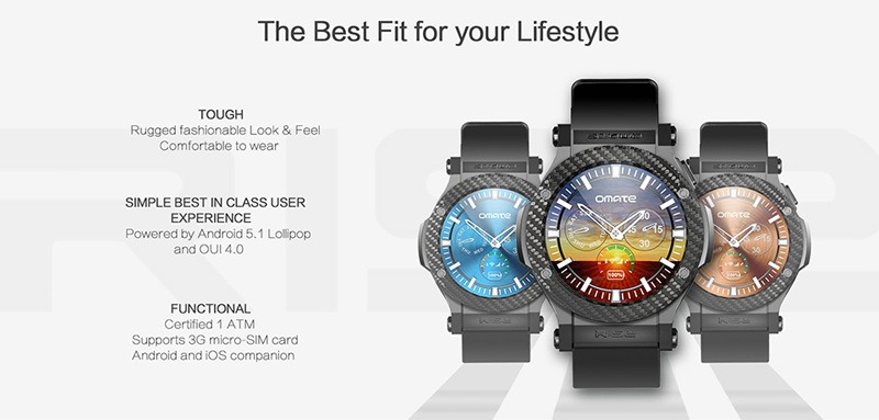 omate rise: smartwatch chay android 5.1 lollipop, co 3g, ket noi android va iphone 03