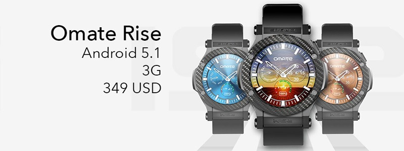 Omate Rise: Smartwatch chạy Android 5.1 Lollipop, có 3G, kết nối Android và iPhone