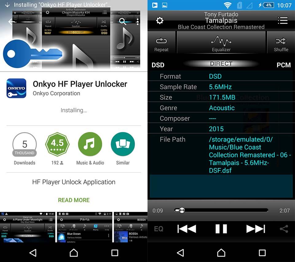 onkyo hf player: nghe nhac hi-res, dsd, xuat dac cho android va ios 04