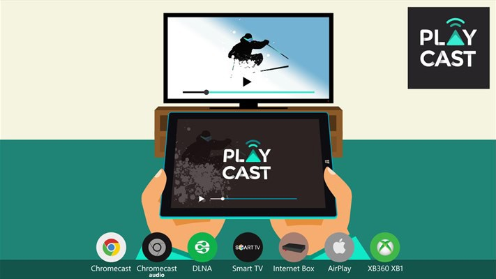 playcast - giai phap truyen video, nhac khong day sang tv bang chromecast, airplay, dlna