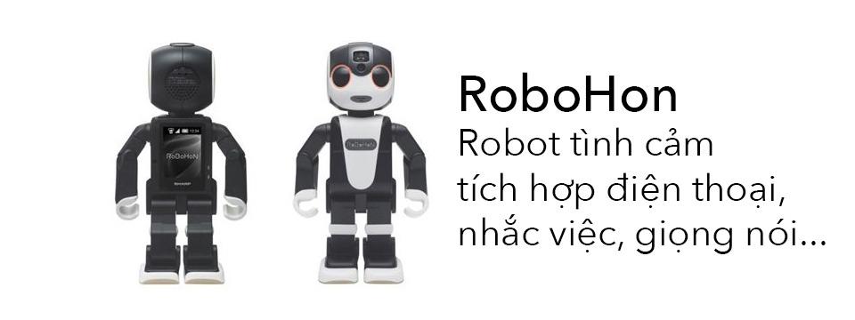 Sharp RoboHon: Robot tình cảm, tích hợp điện thoại, máy chiếu