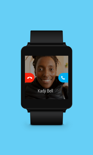 skype chinh thuc co mat tren smartwatch android wear: nhan / tu choi cuoc goi