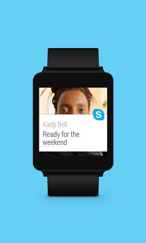 skype chinh thuc co mat tren smartwatch android wear: thong tin cuoc goi se hien thi tren man hinh smartwatch