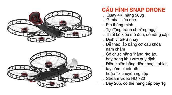 snap drone: an toan, de thao lap, quay 4k 07