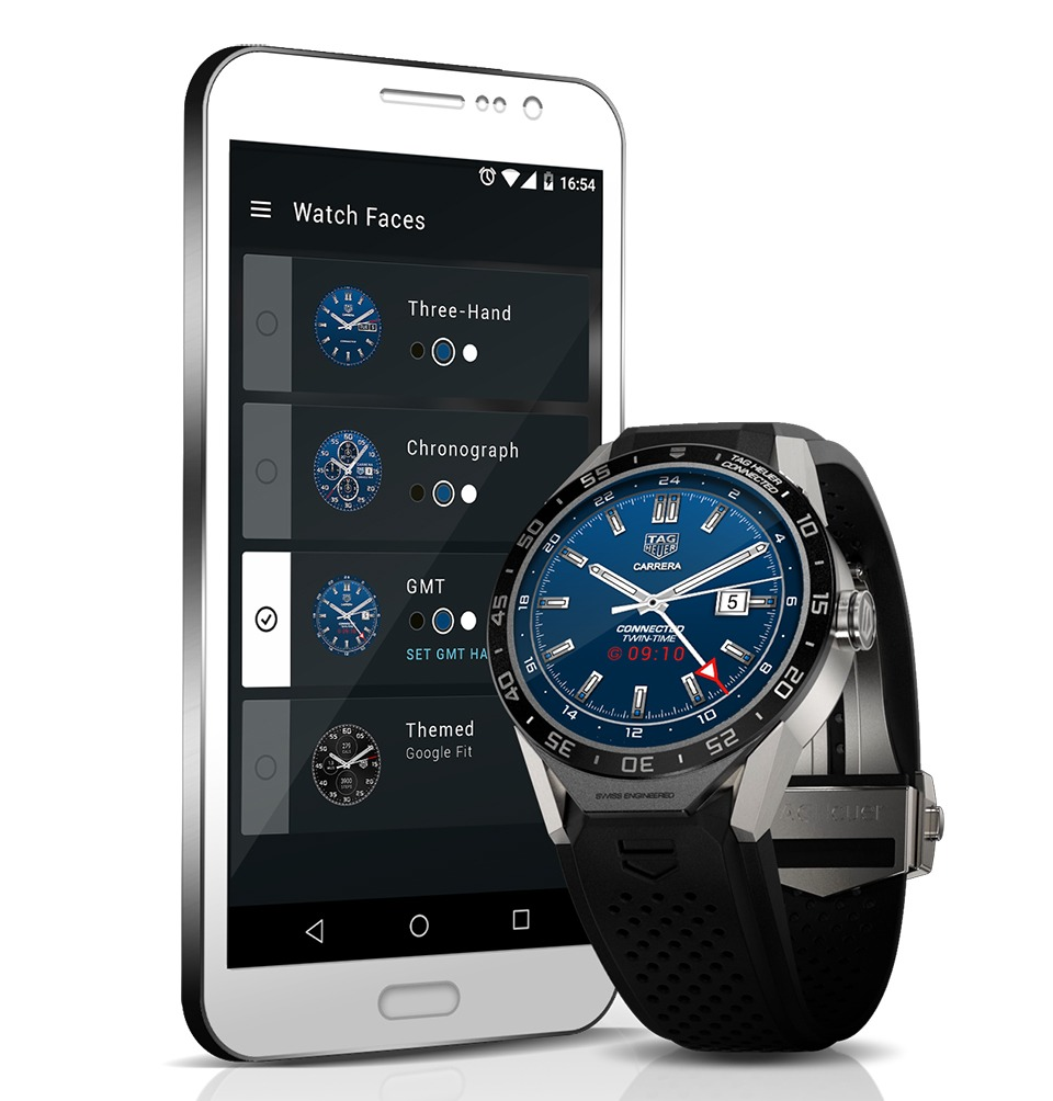 tag heuer ra mat connected watch: smartwatch chay android wear 05