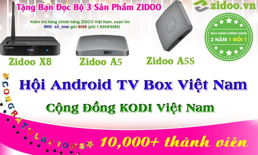 Tặng bạn đọc bộ 3 sản phẩm Android TV Box ZIDOO - TUẦN 3: ZIDOO A5S