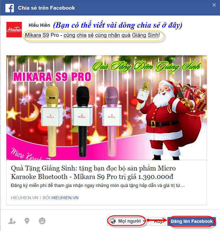 share-facebook-nhan-qua-mikara-s9-pro-qua-tang-giang-sinh