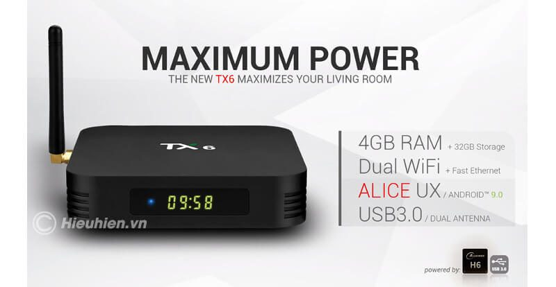 tanix tx6 4gb/32gb android 9.0, tv box allwinner h6 - hình 07