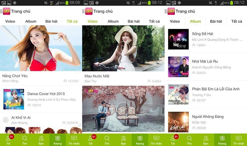 keeng - top 5 ung dung nghe nhac truc tuyen mien phi hay nhat cho android tv box