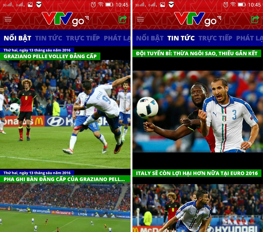 vtvgo euro 2016: ung dung xem truc tiep euro 2016 tren smartphone - anh 3