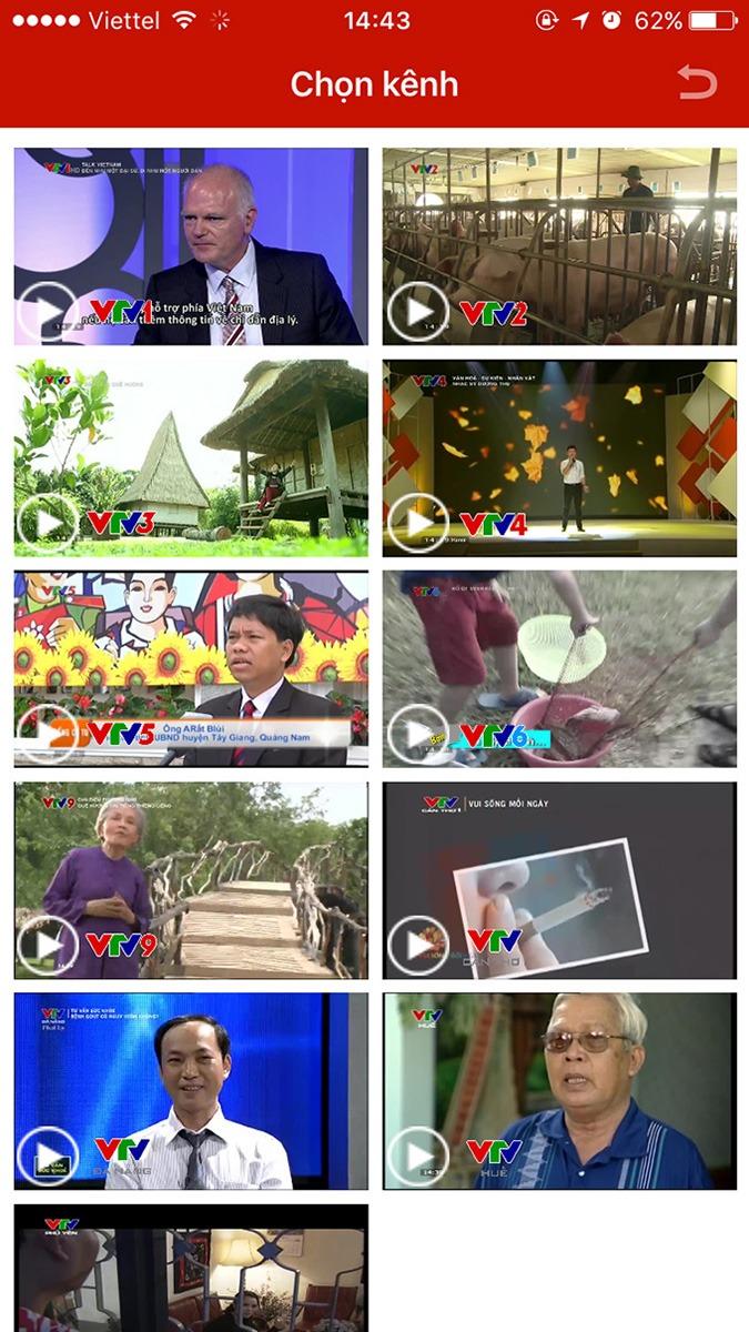 vtvgo - ung dung xem truyen hinh, xem tivi online mien phi: xem live tat ca cac kenh truyen hinh chinh thuc cua vtv