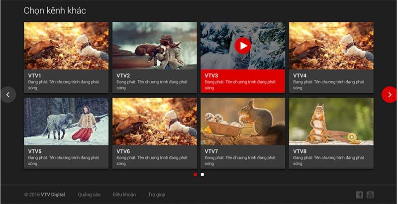 vtvgo - ung dung xem truyen hinh, xem tivi online mien phi: giao dien web vtvgo 2.0 moi