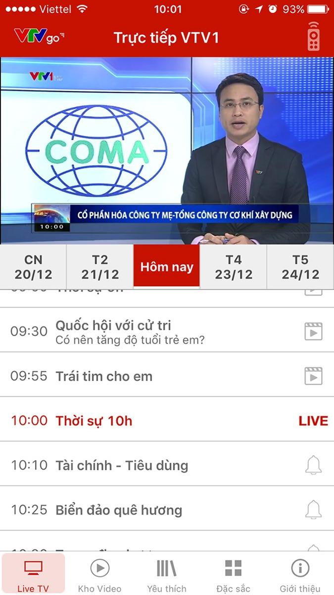 vtvgo - ung dung xem truyen hinh, xem tivi online mien phi: xem live cac chuong trinh