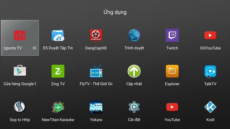 xem lien minh tren tv voi do net cao tren tivi voi giao dien android
