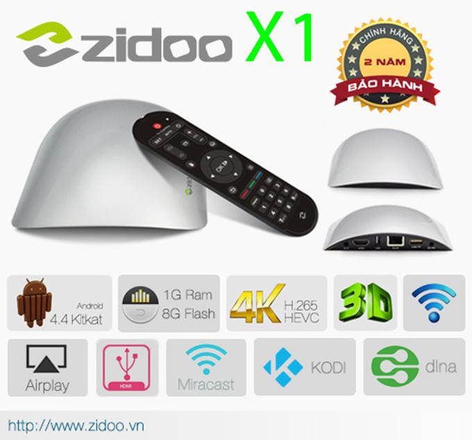 zidoo x1 android tv box bán chạy nhất 2015
