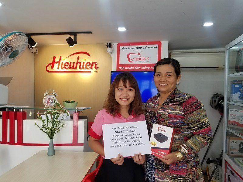 Chúc mừng khách hàng Nguyễn Tố Nga đã trúng thưởng Vibox V1 Pro