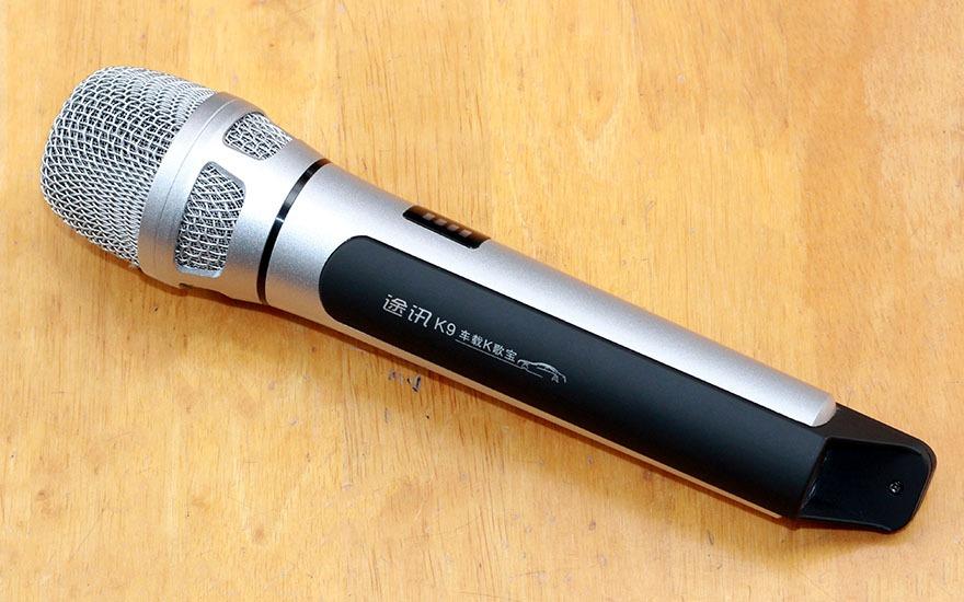 danh gia tuxun k9 micro karaoke bluetooth fm chuyen nghiep tren o to, xe hoi 04