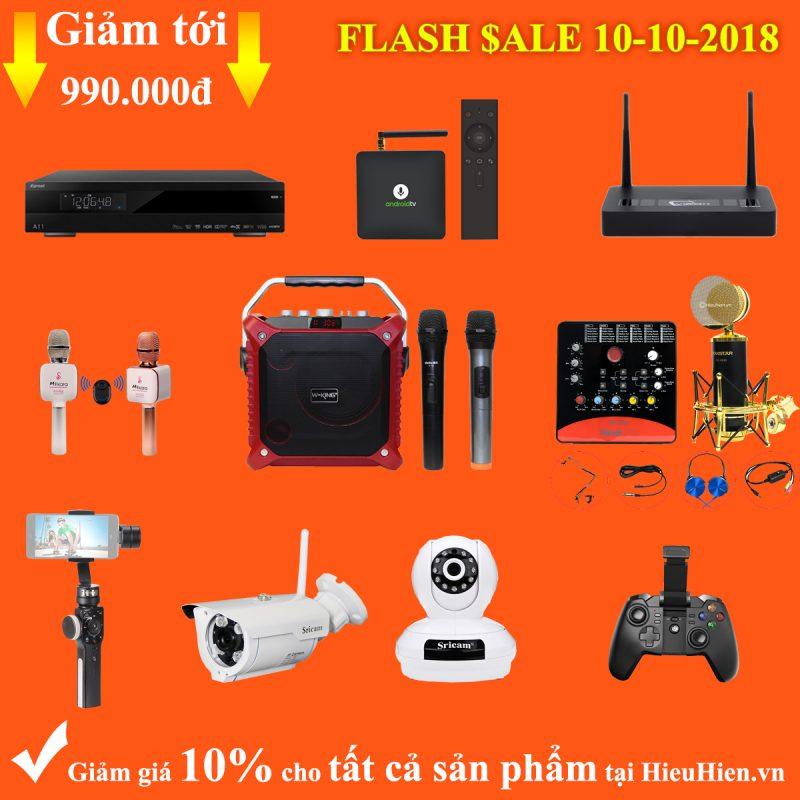 Flash Sale 10/10/2018 - Giảm giá 10% tất cả sản phẩm tại HieuHien.vn