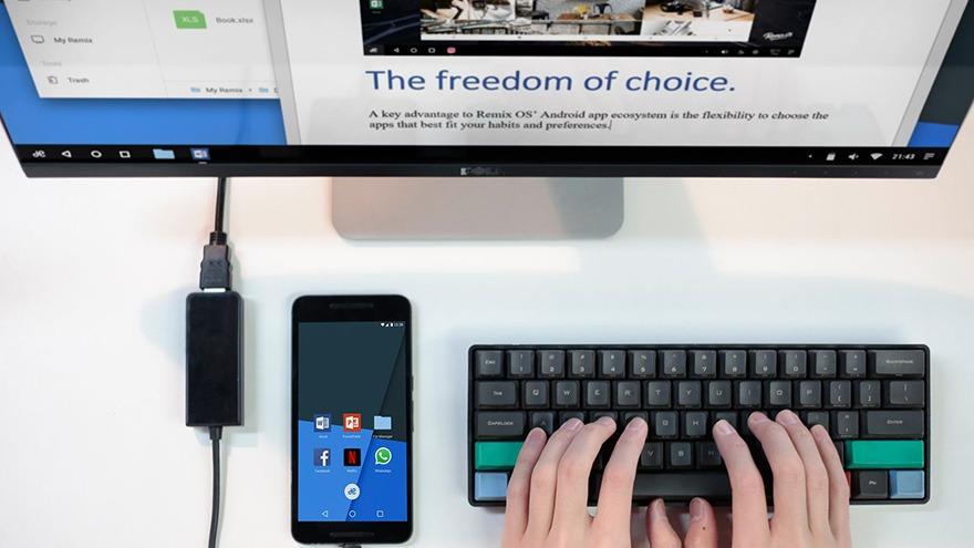 Hệ điều hành Remix OS tham vọng biến smartphone Android thành máy tính
