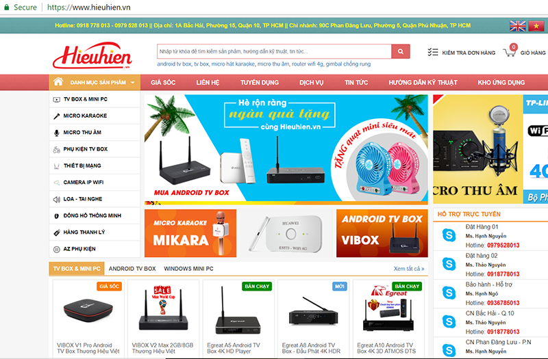website hieuhien.vn