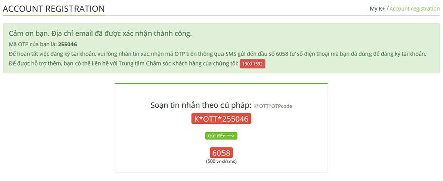 huong dan cach dang ky tai khoan myk+ now: nhan tin sms theo cu phap gui 6058 de hoan tat