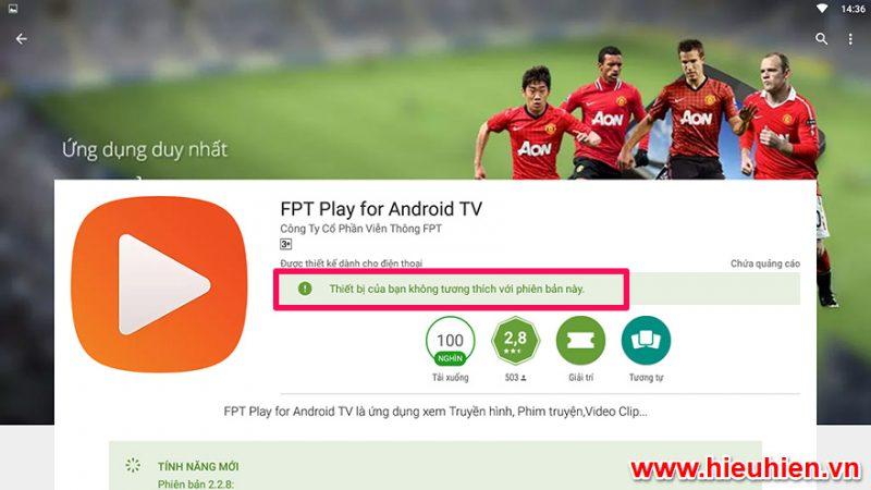 Hướng dẫn cập nhật ứng dụng FPT Play phiên bản mới nhất 2.2.8 cho Android TV Box