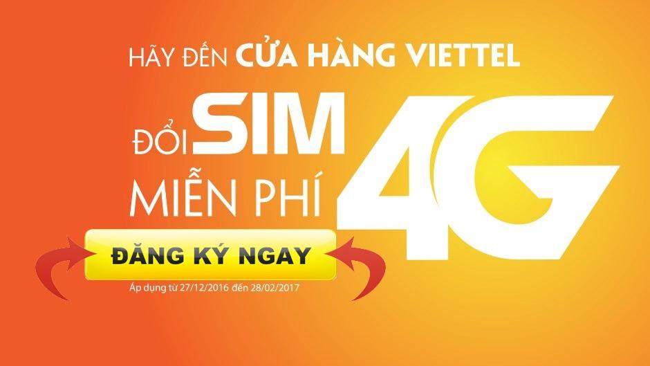 Hướng dẫn đăng ký SIM 4G Viettel hoàn toàn miễn phí