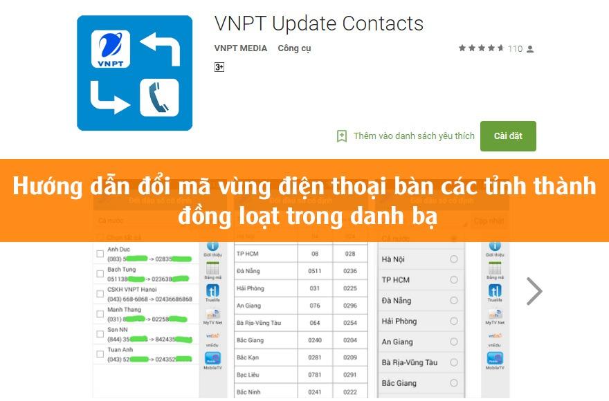 Hướng dẫn đổi mã vùng điện thoại bàn các tỉnh thành bằng ứng dụng VNPT