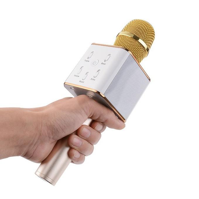 micro kem loa 3 trong 1 hat karaoke bluetooth cuc hay - micro kem loa tuxun q7