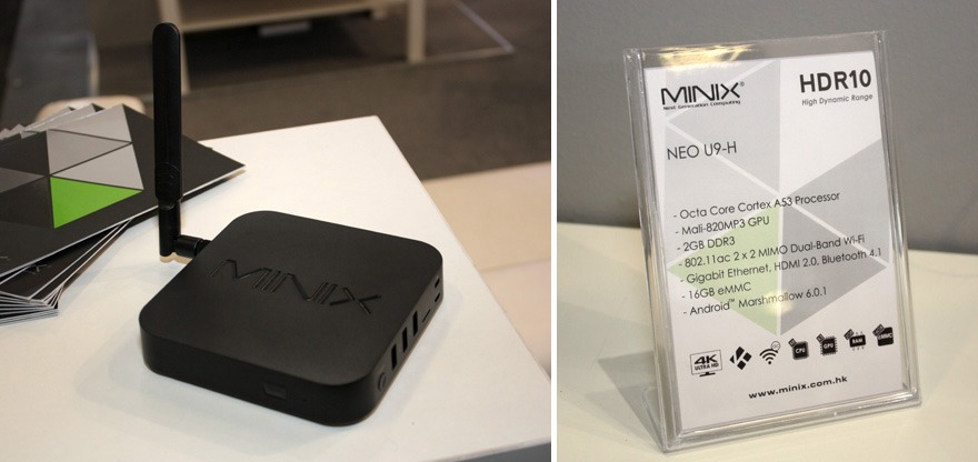 Minix Neo U9-H: Android TV Box chip Amlogic S912-H, hỗ trợ