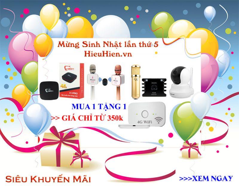 Mừng Sinh Nhật lần thứ 5 của HieuHien.vn - Siêu Khuyến Mãi