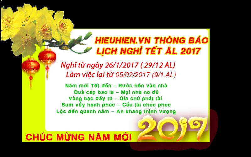 Thông báo lịch nghỉ Tết Âm Lịch của Hieuhien.vn