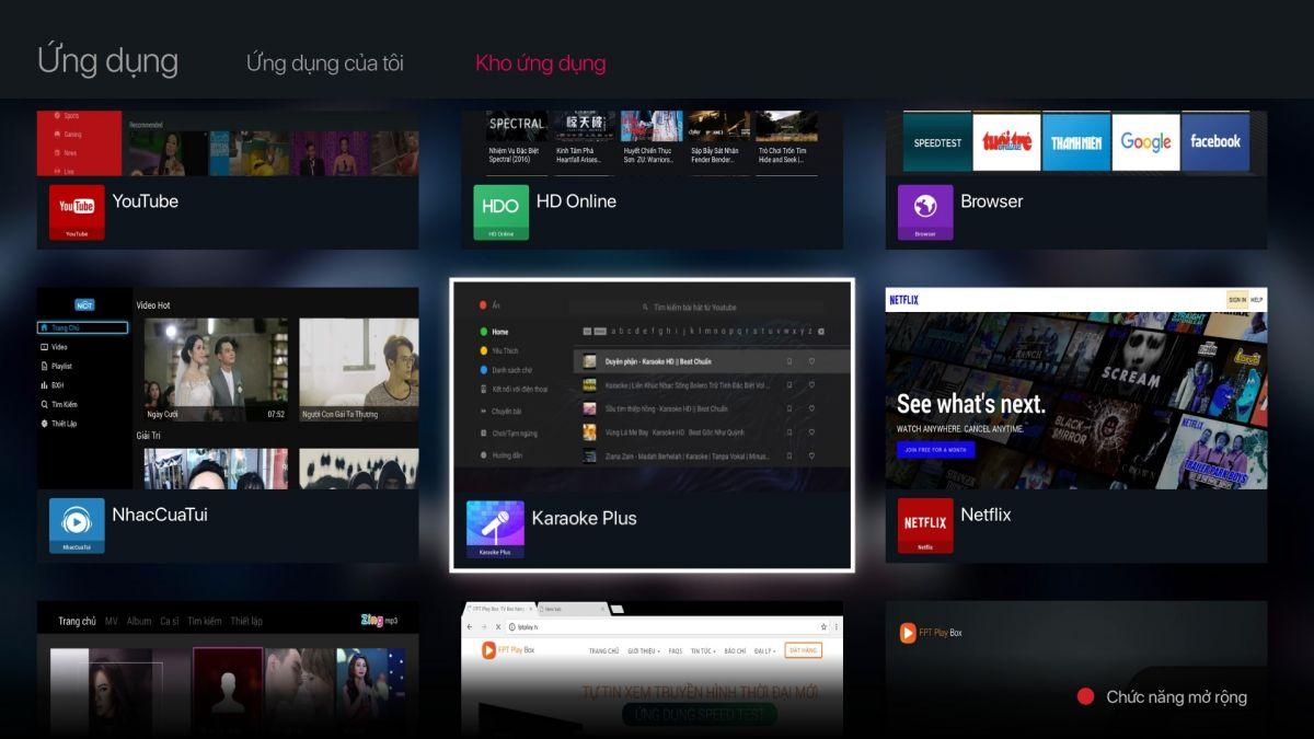 Trải nghiệm ứng dụng Karaoke Plus trên FPT Play Box