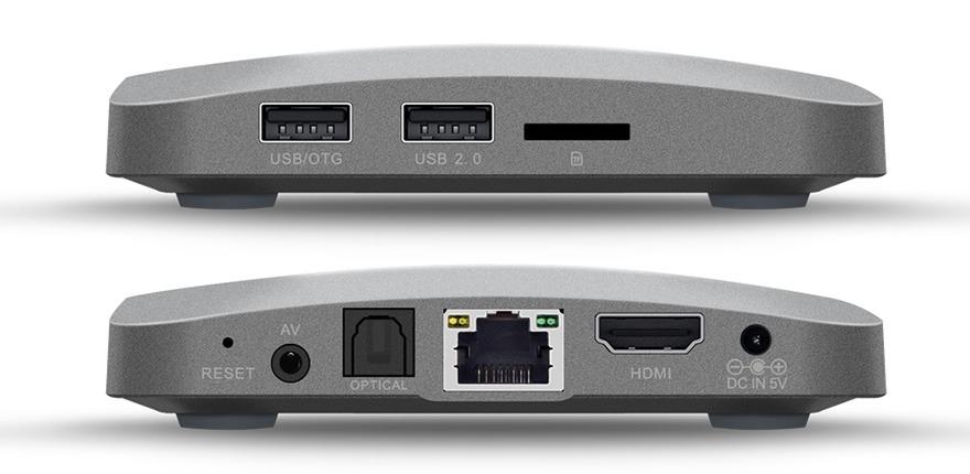 zidoo a5 va zidoo a5s: android tv box chip 64-bit amlogic s905x, ho tro 4k hdr - cac cong ket noi