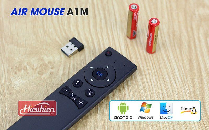 air mouse a1m - chuột bay tìm kiếm bằng giọng nói cho android tv box - phím
